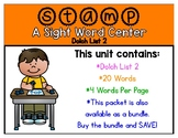 Stamp-a-Sight Word Center - Dolch List 2