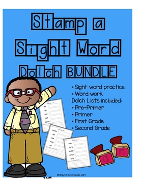 Stamp a Sight Word Dolch List Bundle