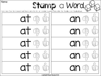 Stamp a Word: CVC Words