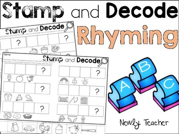 Stamp and Decode Rhyming