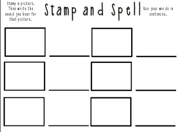 Stamp and Spell Black and White