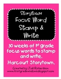 Storytown Stamp and Write Focus Words