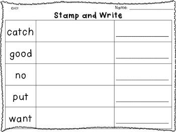 Stamp and Write Sight Words 2.1 Reading Street