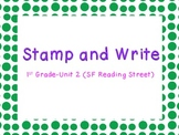 Stamp and Write Sight Words: Unit 2, 1st Grade Reading Street