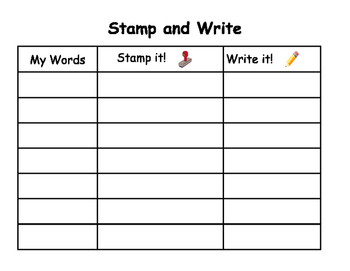 Stamp and Write it!