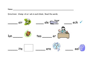 Stamp digraphs ch and wh