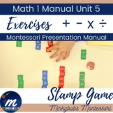 Stamp game Montessori Operations MANUAL with Full Instructions