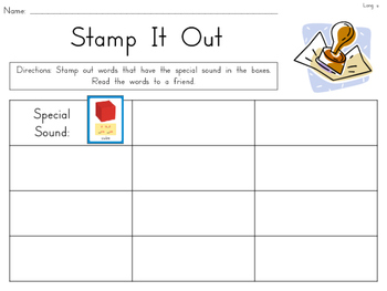 Stamp it Out! {Daily 5 Word Work activity using Wonders Phonics Sound Cards}