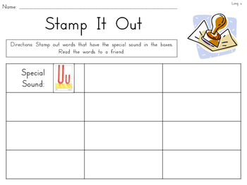 Stamp it Out! {Daily 5 Word Work matching Open Court Phonics Sounds}