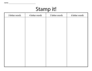 Stamp it Sight Words