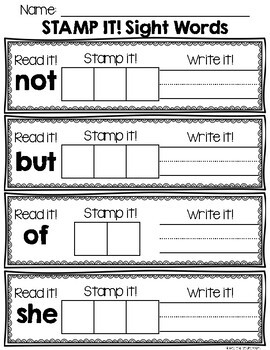 Stamp it! Sight Words