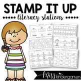 Kindergarten Worksheets Literacy Stations