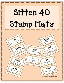 Stamp mat for Sitton 40