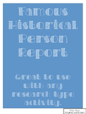 Stamp of Approval- Historical Person Activity