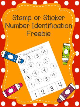 Stamp or Sticker Number Idenitfication