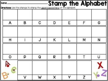 Stamp the Alphabet Activity