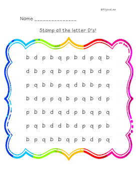 Stamp the Letter D
