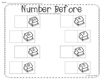 Stamp the Numbers 0 to 10