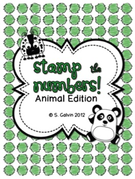 Stamp the Numbers 1-100 (Animal Edition)