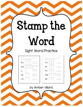 Stamp the Word {Sight Word Practice}