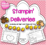 Valentine Stamping Center for Writing or Math