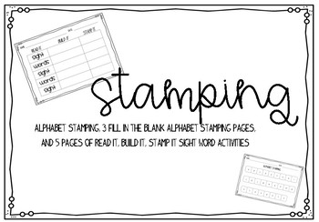 Stamping Activities {alphabet & sight words}