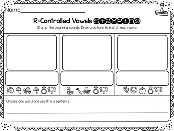 Advanced R-Controlled Vowels Stamping