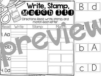 Stamping All Year {Simple and Easy Centers}