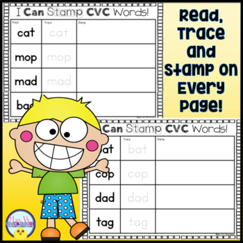 Stamping CVC Words Sheets