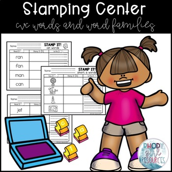 Stamping Center: CVC and Word Families (Editable)