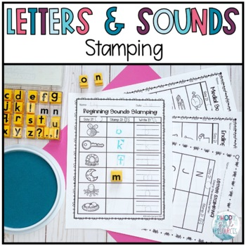 Stamping Center: Letters and Sounds (Editable)