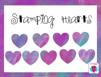 Stamping Hearts Clip Art