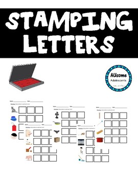 Stamping Letters- Literacy Center Activity (Special Ed., Elementary, Autism)