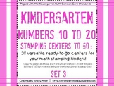 Stamping Math Centers Set 3: #s 10 to 20 Common Core Aligned Ready to Go
