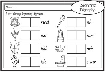 Stamping Phonics - Beginning Sounds, Blends and Digraphs