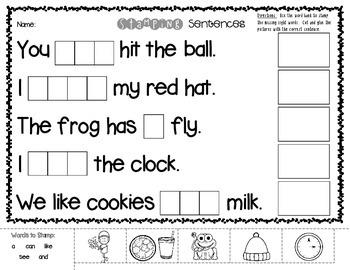 No Prep! Stamping Sentences *Sight Word Practice*