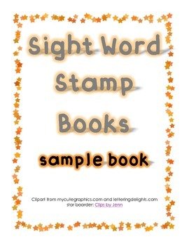 Stamping Sight Word Book