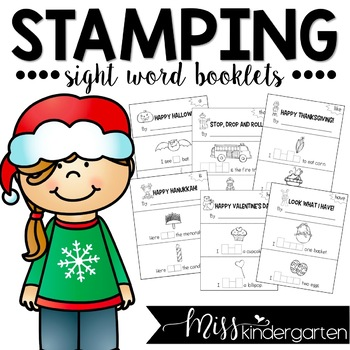 Stamping Sight Word Booklets {holiday edition}