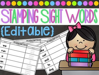 Stamping Sight Words Center