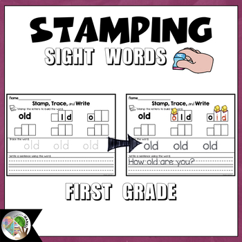 Dolch Sight Words Stamping (First Grade List)