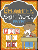 Stamping Sight Words Freebie