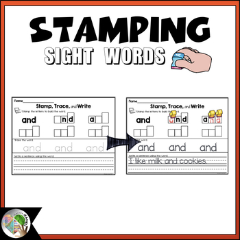 Pre-Primer Sight Word Stamping - High Frequency Words