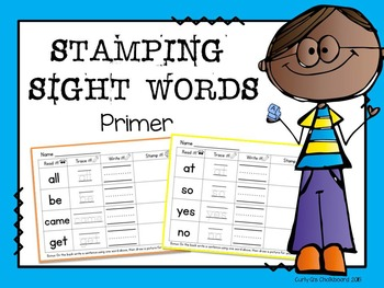 Stamping Sight Words: Primer Dolch words