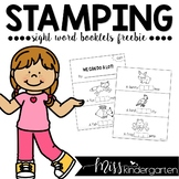 Sight Word Practice {Stamping Booklets freebie}