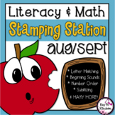 Stamping Stations for Literacy & Math - Aug/Sept