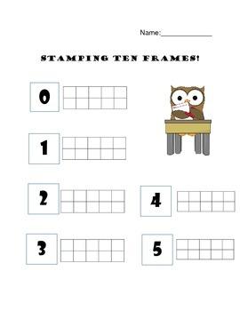 Stamping Ten Frames!