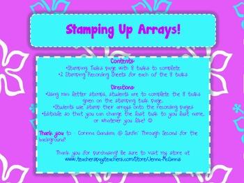 Stamping Up Arrays! CCSS 2.0A.4
