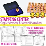 Stamping Words ~ Sight Words and Word Families-Editable!