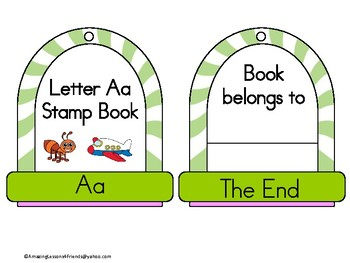 Stamping into Letters Ring Books Aa Thru Hh