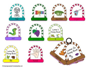 Stamping into Letters Ring Books Aa Thru Zz BUNDLE